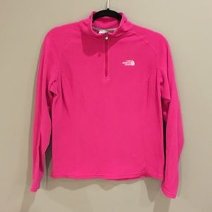 Pink North Face Quarter Zip